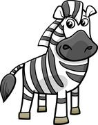 zebra animal cartoon illustration - stock illustration