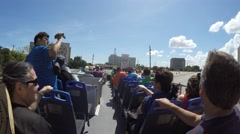 Sightseeing Tour in Plaza de la Revolucion, in Havana, Cuba. Stock Footage