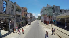 Stock Video Footage of Aerial View of Famous Streets in Havana, Cuba