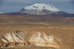 Active Volcano on the Altiplano - stock photo