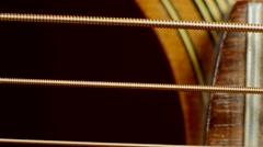 Guitar Strings Stock Footage