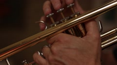 Trumpet Player - stock footage