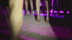 Girls have a holiday party - stock footage