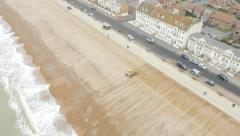 Beach Nourishment - Seaford 4K - stock footage