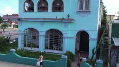 People on the street in Havana, Cuba - stock footage