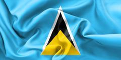 Saint Lucia Flag - stock illustration
