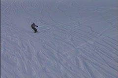 Snowboarder Flip and Crash Stock Footage