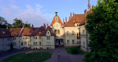 Stock Video Footage of Romantic fairytale mansion in the French style