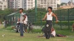 Boys kiting on the Maidan,Kolkata,India - stock footage