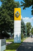 Signage at Renault car dealer's building - stock photo