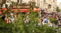 People walking in Montmartre Footage