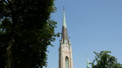 Oscar's Church in Stockholm Sweden Stock Footage
