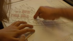 Architects with blueprints, project, plan of building Arkistovideo