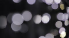Out of focus lights - pan left Stock Footage