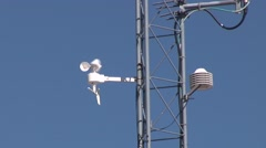 Anemometer in Wind Stock Footage