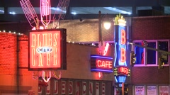 Beale Street Signs Stock Footage