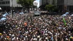 Carnival  in Rio de Janeiro Stock Footage