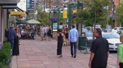 People Walking at Larimer Square Stock Footage