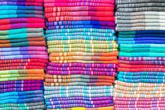 Textiles in Otavalo, Ecuador - stock photo