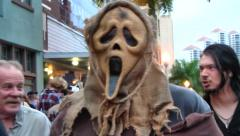 Scaring me at Zombiecon Halloween, Fort Myers, Florida Stock Footage