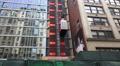 Construction Elevator On Glass Building 4k or 4k+ Resolution