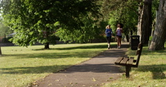 Girlfriends dedicated to fitness Stock Footage