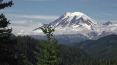 Mount Rainier, Washington from the east Stock Footage