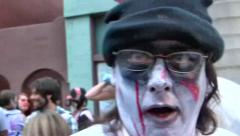Zombiecon costume, Fort Myers, Florida Stock Footage