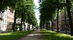 A walkway in Östermalm Stockholm Sweden Stock Footage