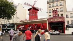 Mouline Rouge, Paris Stock Footage