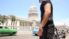 Tourist in Havana, Cuba Stock Footage