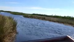 Airboat Ride in the Everglades, Florida Stock Footage