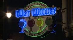 Memphis Bar Sign - stock footage