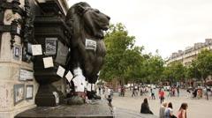 Charlie Hedbo memorial Stock Footage