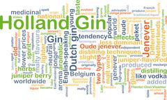 Holland gin background concept - stock illustration