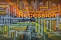 Recession background concept glowing Stock Illustration