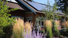 ZERO NET ENERGY HOME IN BEND, OREGON Stock Footage