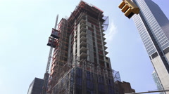 High Rise Bulding Under Construction New York City 2 Stock Footage