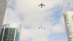 Military aircrafts in Paris on the Bastille day Stock Footage