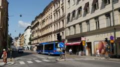 A street in Kungsholmen Stockholm Sweden Stock Footage