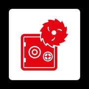 Hacking theft icon Stock Illustration