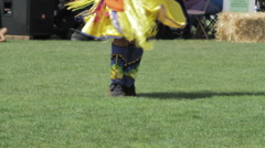 Native American Shawl Dancer - stock footage