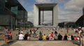 Le Grand Arc de la Defense, Paris Footage