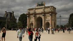 Stock Video Footage of Arc de Triomphe du Carrousel, Paris