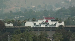 Zoom Out of ROSE BOWL in PASADENA - stock footage