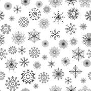 Christmas and New Year seamless gray pattern - stock illustration