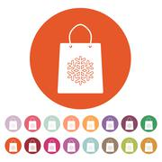 Stock Illustration of The shopping bag icon