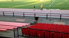 One side of sport field Stock Footage