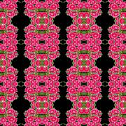 Dianthus flower seamless pattern background Stock Photos