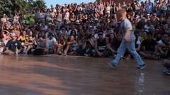 Kids Battle. Breakdance Street Championship. - stock footage
